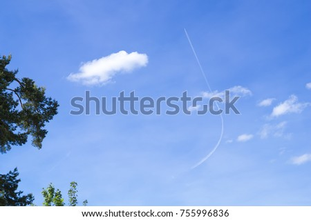 plane with a bent contrail Stock photo © magann