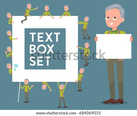 flat type Green vest old man_text box Stock photo © toyotoyo