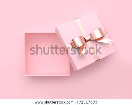 caixa · de · presente · rosa · rosas · cartão · em · branco · papel · casamento - foto stock © karandaev
