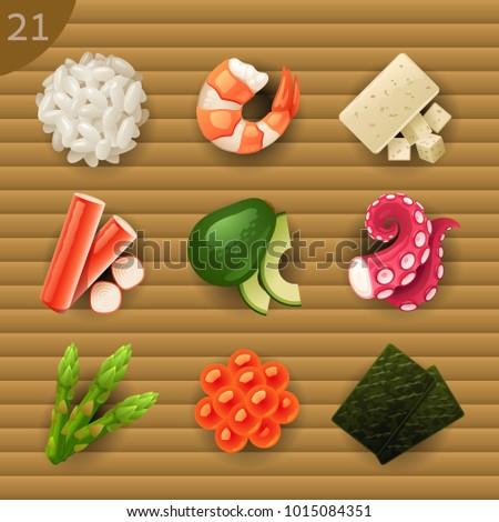 vector set of tofu Сток-фото © olllikeballoon