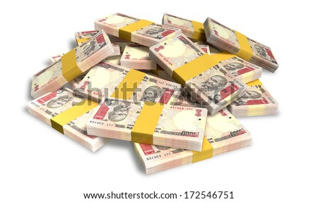 Scattered Indian Rupee Banknote Pile Stock photo © albund