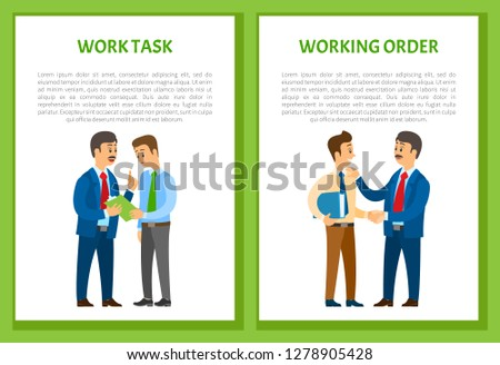 Boss Giving Instructions to Male Employee Vector Stock photo © robuart