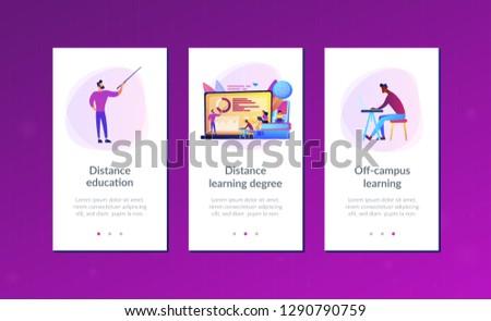Leren app interface sjabloon belangrijk besluitvorming Stockfoto © RAStudio