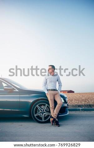 Imprenditore pensare auto business uomo foto Foto d'archivio © photography33