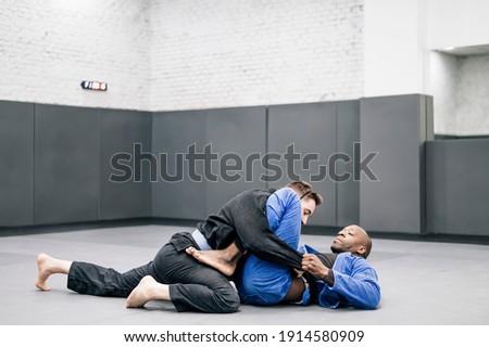 Judo mantener paisaje clase masculina Foto stock © photography33
