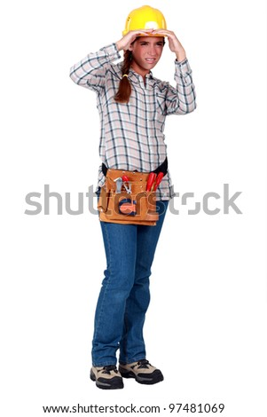 craftswoman looking at something far away Stock photo © photography33