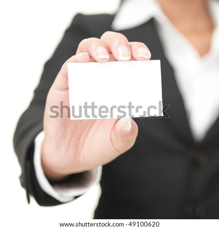 business woman holding businesscard Stock photo © clearviewstock