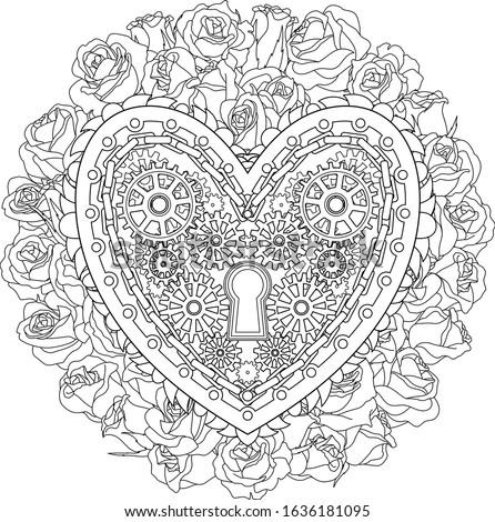 Mechanical Valentine color heart Stock photo © Elmiko