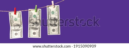 Papier dollar touw geïsoleerd witte business Stockfoto © brulove