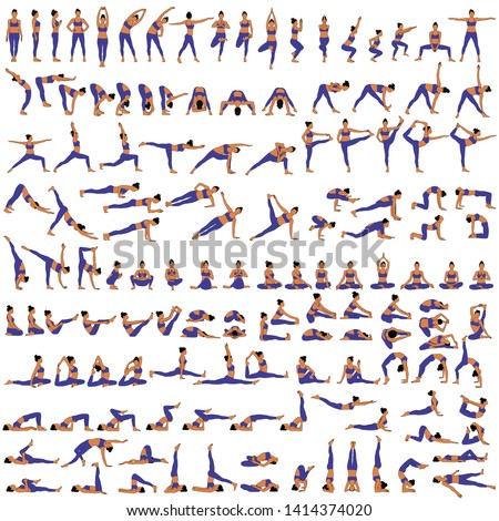 Illustrazione ragazza sport equilibrio dieta Foto d'archivio © adrenalina