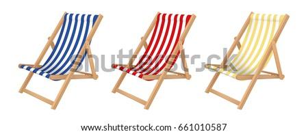 Deck Stuhl Foto zwei gestreift Hotel Stock foto © Nneirda