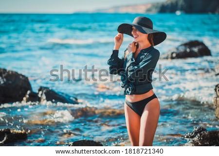 Azul vestir belo alto indiano mulher Foto stock © disorderly