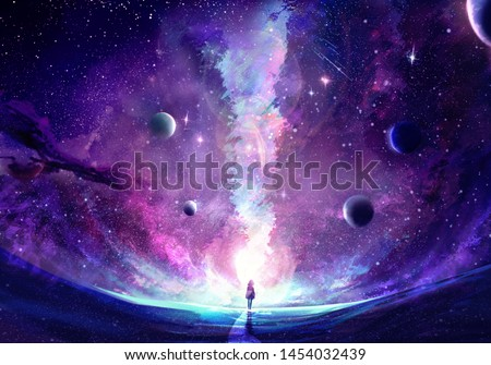Planet artworks Stock photo © bluering