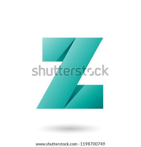 Yeşil katlanmış kâğıt vektör örnek Stok fotoğraf © cidepix