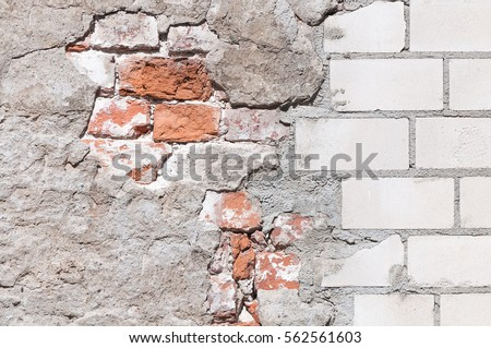 old and new brickwork Stock photo © romvo