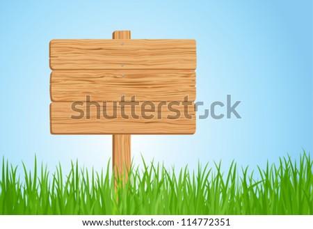 fa · tábla · fű · fal · háttér · űr · zöld - stock fotó © colematt
