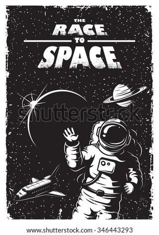 ロケット · 科学 · スペース · ベクトル · 芸術 · 月 - ストックフォト © vector1st