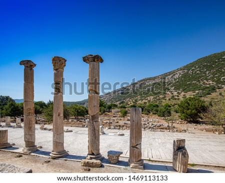 Columnar arrangements in Ephesus Stock photo © grafvision