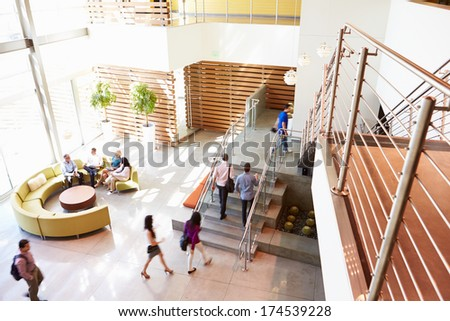 High angle view of business people arriving at office lobby  Stock photo © wavebreak_media