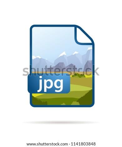 Brilhante azul arquivo ícone jpg branco Foto stock © evgeny89