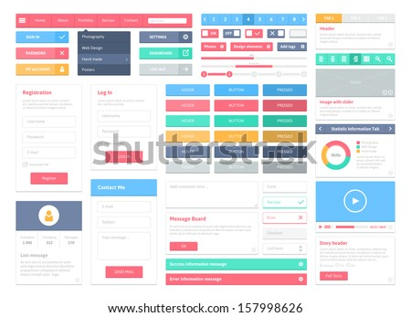 App development - colorful flat design style web banner Stock photo © Decorwithme
