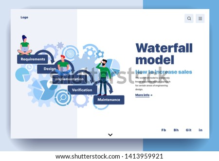 Project life cycle concept landing page Stock photo © RAStudio