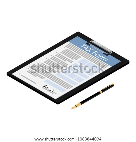 Tax Archive Isometric Icon Vector Illustration Stock photo © pikepicture