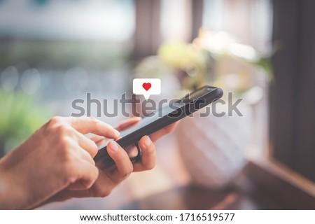социальной СМИ парень язык сетей Сток-фото © leeser