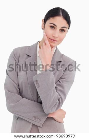 Pensieri bianco business lavoro suit Foto d'archivio © wavebreak_media