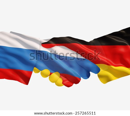 Germany and Russia reach out their hands Stock photo © Zerbor