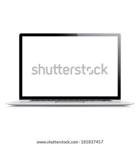 現実的な 詳しい ベクトル ノートパソコン 孤立した 白 ストックフォト © MPFphotography
