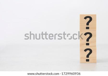Any Ideas ? on wooden table Stock photo © fuzzbones0