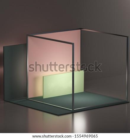 Grijs interieur licht kamer exemplaar ruimte ontwerp Stockfoto © IMaster