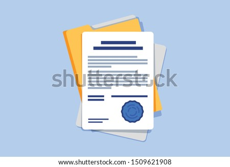 file with pen stock photo © get4net