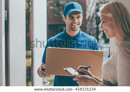 Delivery men 2 Stock photo © toyotoyo