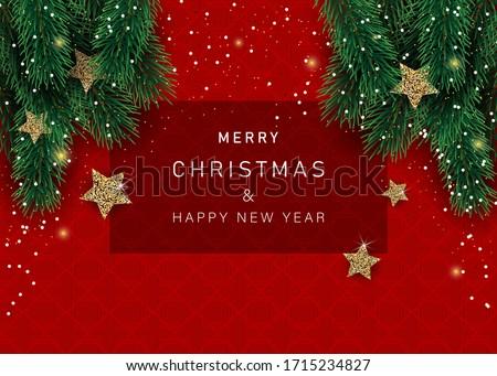 Weihnachten Ornament Vektor Urlaub Dekorationen Stock foto © kostins