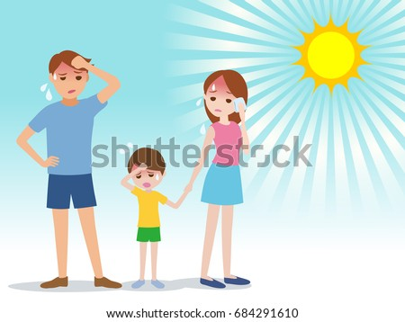 Nyár hő anya illusztráció nap forró Stock fotó © Blue_daemon