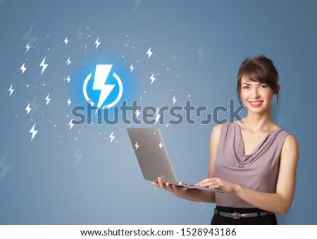Osoby baterii życia młodych uśmiechnięty Zdjęcia stock © ra2studio