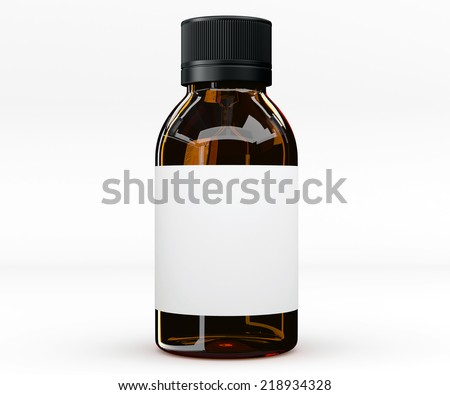 Medicine bottle for liquid Stock photo © montego