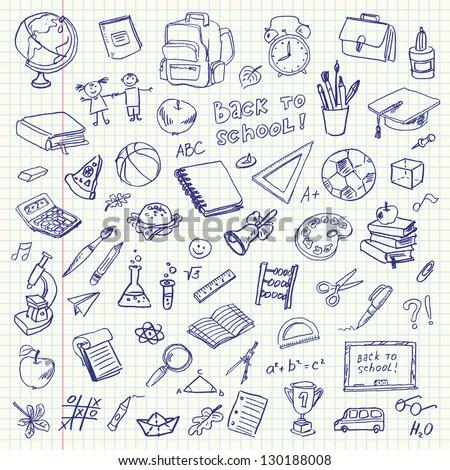 Hand School Drawing Illustration Stock photo © lenm