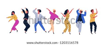 Felice giovane donna dancing uomo Foto d'archivio © cienpies