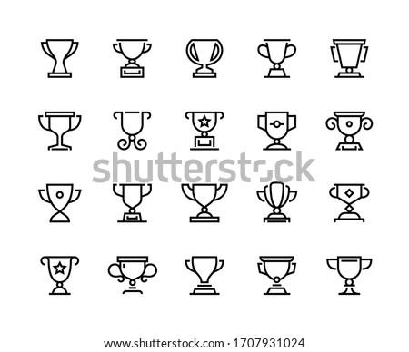 Bajnokság csésze ikon vektor skicc illusztráció Stock fotó © pikepicture