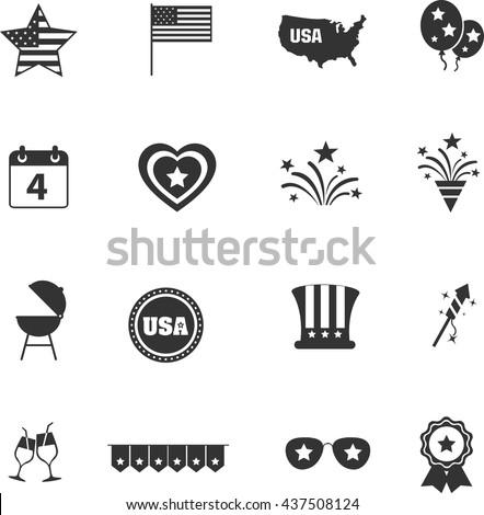 independence day icon set Stock photo © ayaxmr