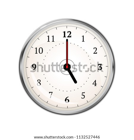 Realistic clock face showing 05-00 on white Stock photo © evgeny89