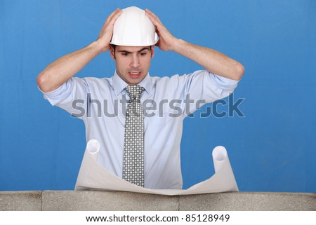 An architect having a hard time. Stock photo © photography33