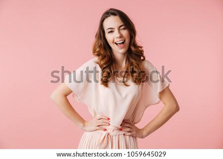 女性 ピンク 見える カメラ スポーティー ストックフォト © leedsn