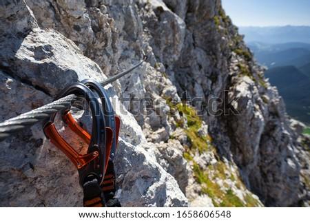 Climber carabiner Stock photo © shutswis