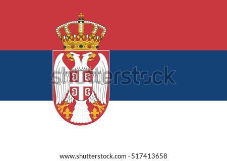 Bandeira Sérvia ilustração flutuante projeto arte Foto stock © claudiodivizia
