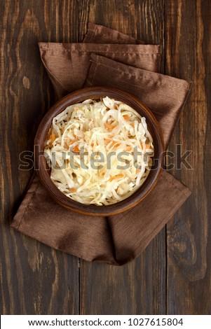 Tányér savanyú káposzta étterem vacsora hús krumpli Stock fotó © M-studio