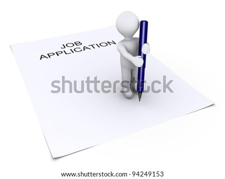 3d Man In Hold Position Photo stock © 6kor3dos